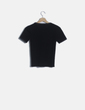 Camiseta tricot negra Mango