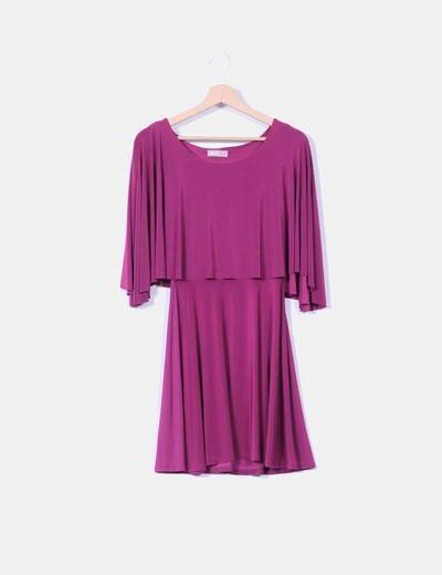 Vestido morado con capa A wear
