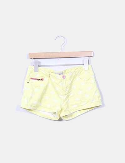 Shorts amarillo print peces Pull&Bear