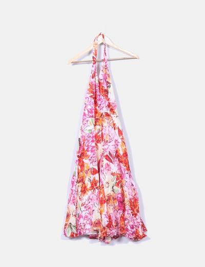 Vestido midi floral Zara