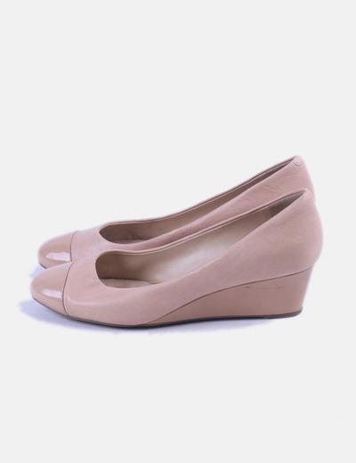 Zapato combinado de cuña