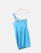 Vestido turquesa con pedrería Jane Norman