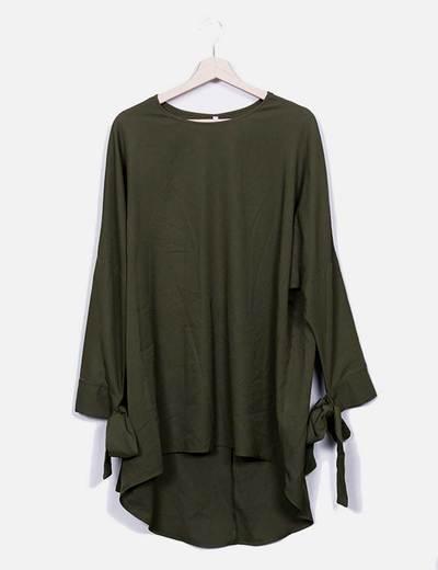 Vestido midi verde fluido NoName