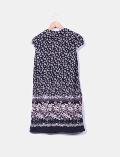 Vestido tricot estampado