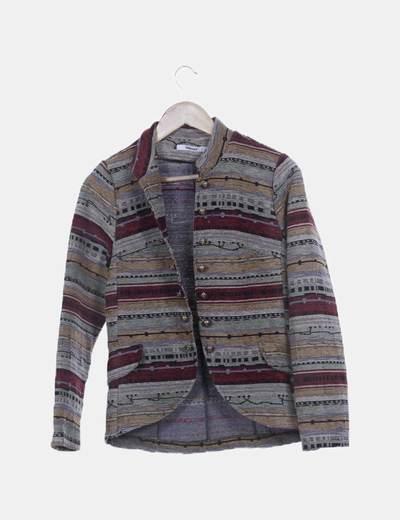 Chaqueta tricot étnica