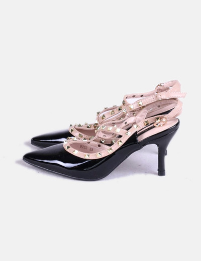 Descuento Negro Charol Con Zapatos Micolet Wsi8crq Amore Niko 73 Tachas qpISRqWnw1