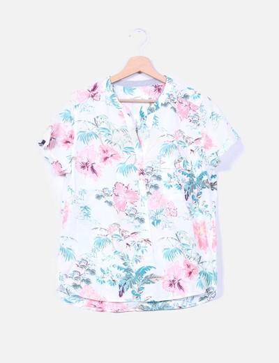 Camisa adornos hawaianos H&M