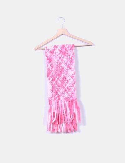 Bufanda de lana rosa jaspeada NoName