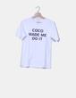"""Camiseta blanca """"Como made me do it""""  Sheinside"""