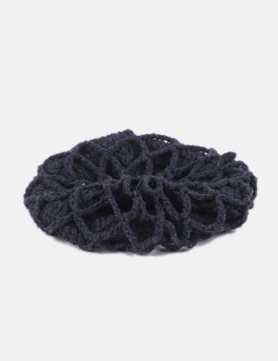 Boina gris tricot
