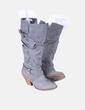 Boot en cuir synthétique gris Suiteblanco