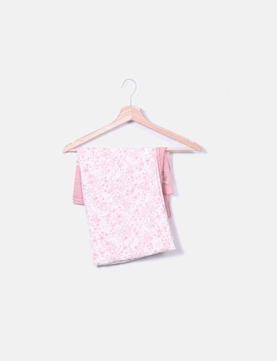 Foulard estampado rosa