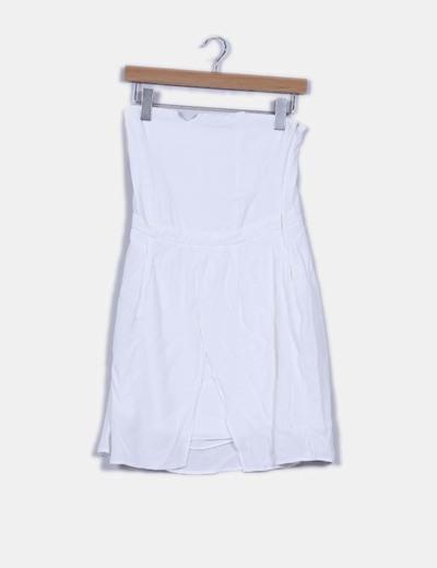 Vestido blanco palabra de honor Pull&Bear