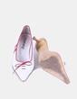 Zapato blanco de punta con lazo Mustang