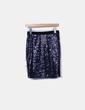 Falda de lentejuelas azul Sfera