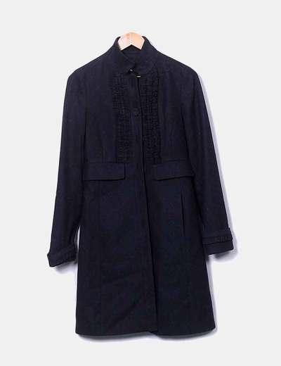 Adolfo dominguez abrigo pa o negro cuello mao descuento for Abrigos adolfo dominguez outlet