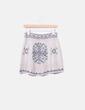 Mini falda lana étnica Zara