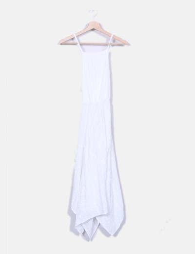 Robe blanche gores Oysho