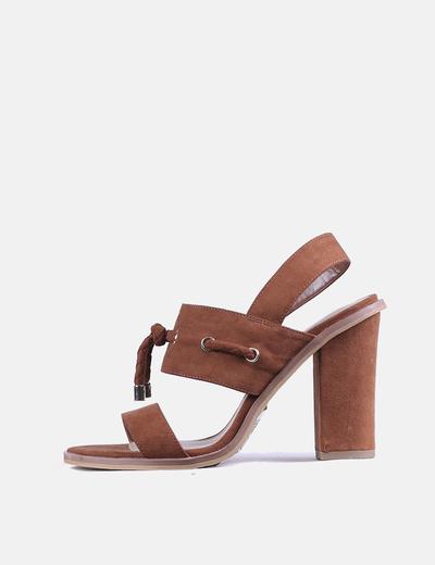 Chaussures marrons à talons Promod