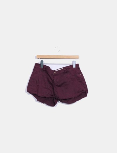 Shorts denim burdeos Double Agent