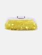Bolso de mano amarillo con abalorios Uterqüe