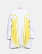 Veste beige à rayures jaunes en cuir Hugo Boss
