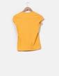 Camiseta básica mostaza Massimo Dutti