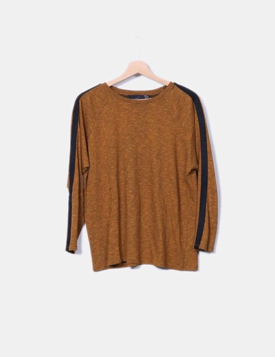 Camiseta de punto jaspeada Zara