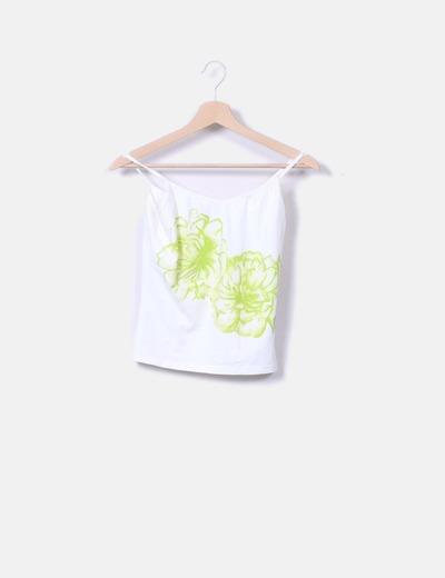 Camiseta blanca tirante fino