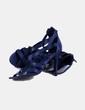Sandalia de tiras azul marino Zara