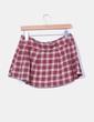 Falda cuadros roja Pull&Bear