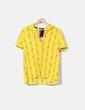 Camisa amarilla estampado flamencos Zara