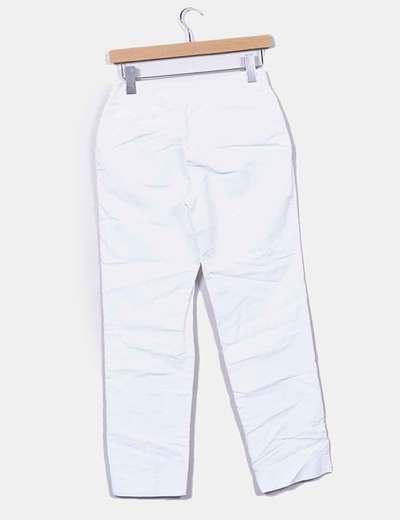 Pantalon blanco roto texturizado