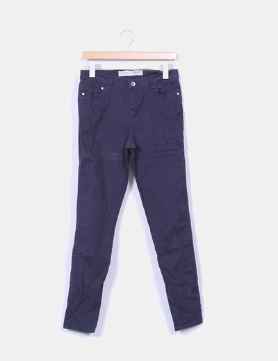 Pantalón pitillo azul marino Denim Co.