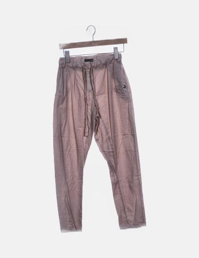 Pantalón rosa palo con elástico