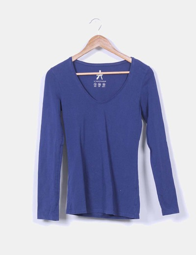 Camiseta básica azul marino Atmosphere