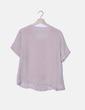 Camisa satinada rosa manga corta NoName