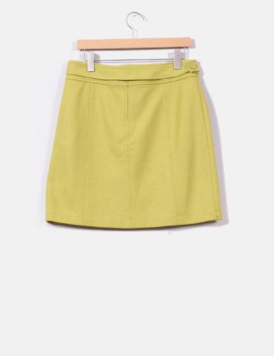 Falda de pano verde pistacho