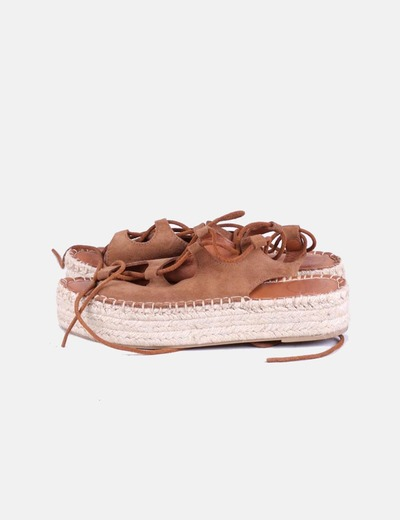 Sandales en daim sparterie en dentelle Alohas