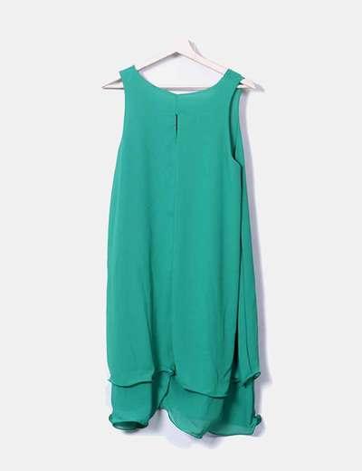 Vestido verde gasa