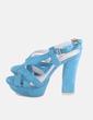Sandalia de tacón azul Zilian