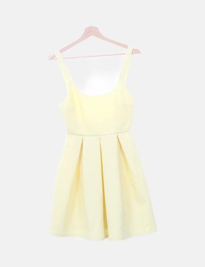 Vestido animal print amarillo