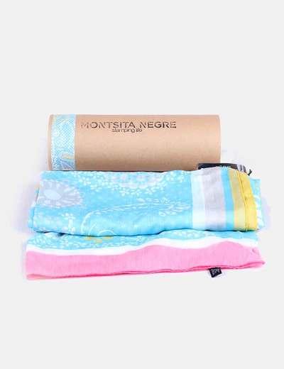 Foulard seda azul Montsita Negre