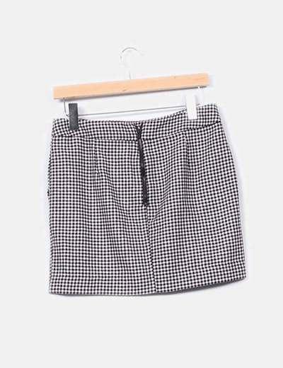 78c52fbbb6 Mango Mini falda cuadros blanco y negro (descuento 94%) - Micolet
