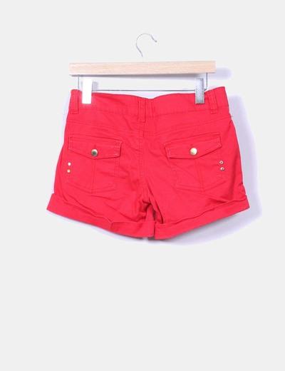 Shorts denim rojo