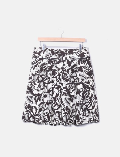 Beige printed skirt Sfera