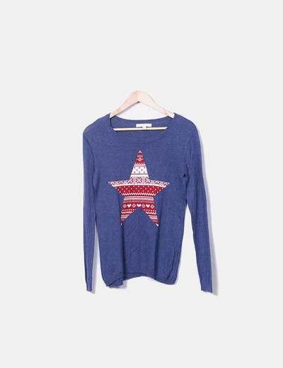 Pull avec motif de noël tricot Springfield