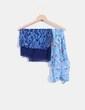 Conjunto de pañuelos azulados con estampado NoName