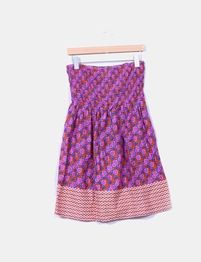 Vestido mini estampado