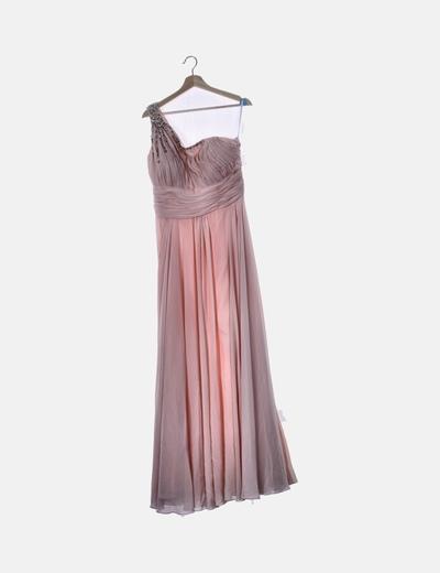 Vestido de fiesta rosa con strass